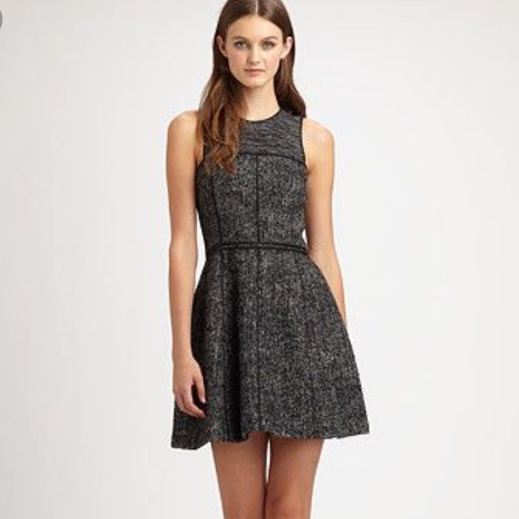 Theory Dresses & Skirts - Theory Grey Wool Mohair Tweed Franzie Dress